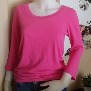 J. Crew Artist T Hot Pink Medium 100% Cotton